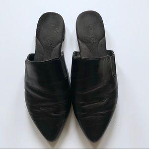Aerosoles leather mules